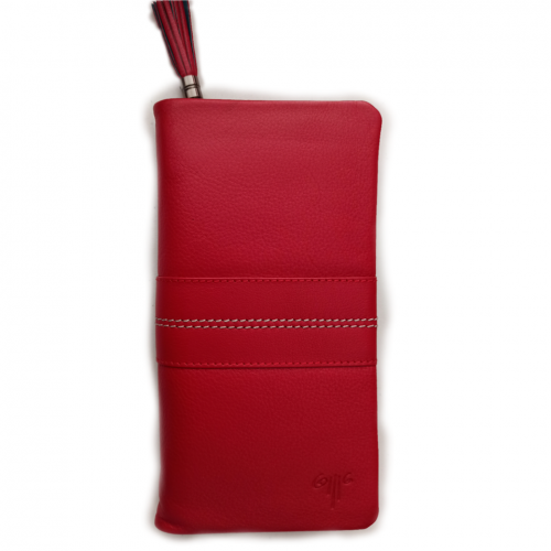 Δερμάτινο γυναικείο πορτοφόλι - Κόκκινο