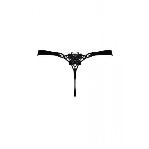 """String με μοτίφ """"πεταλούδα"""" - Μαύρο"""