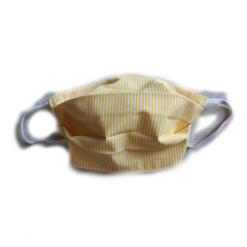 Μάσκα προστασίας υφασμάτινη 100% βαμβακερή - Κίτρινο ριγέ